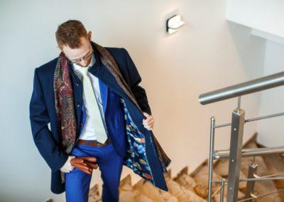 pánský plášť k obleku